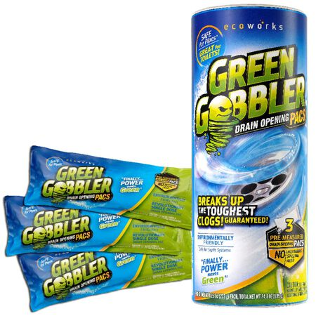 GREEN GOBBLER ecoworks Granular Drain Opener Pacs 3 pk