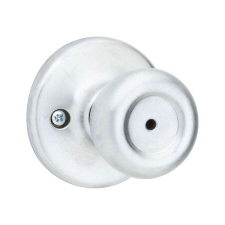 Kwikset Tylo Tylo Privacy Knob Satin Chrome Steel 3 Grade Left or Right Handed