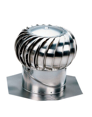Air Vent Turbine and Base 132 sq. in. 14 in. 3-1/2 - 12/12 Internal Galvanized Steel Mill