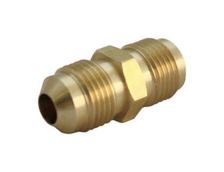 Ace 5/16 in. Dia. x 5/16 in. Dia. Flare To Flare To Flared Yellow Brass Union