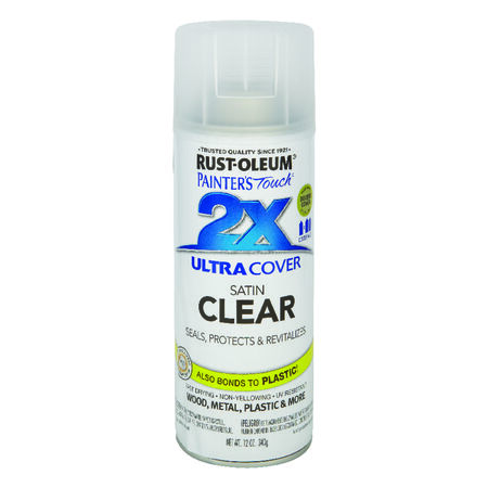 Rust-Oleum Painter's Touch Ultra Cover Clear Satin 2x Enamel Spray 12 oz.