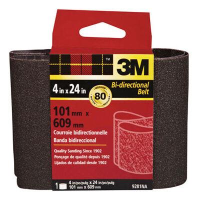 3M Sanding Belt 4 in. W x 24 in. L 80 Grit Medium 1 pk