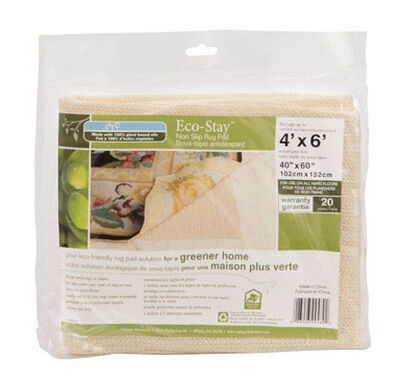 Eco Stay 4 ft. L x 6 ft. W Polyester Indoor Rug Pad
