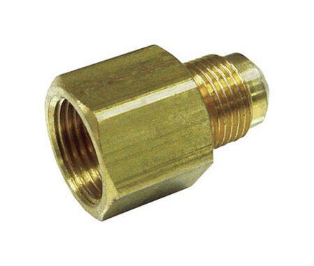 JMF 1/2 in. Female Flare x 3/8 in. Dia. Male Flare Brass Flare Adapter