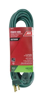 Ace Outdoor Extension Cord 16/3 SJTW 25 ft. L Green