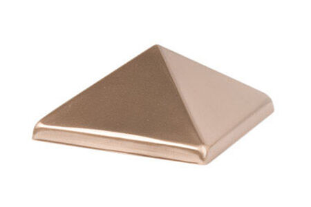 Waddell Pyramid Exterior Post Top Copper 4 in. H x 4 in. W x 4 in. D Brown