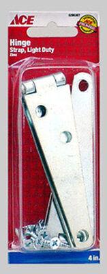 Ace Steel Light Duty Strap Hinge 4 in. L Zinc 1 pk