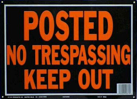 Hy-Ko English 10 in. H x 14 in. W Aluminum Sign Posted No Trespassing Keep Out