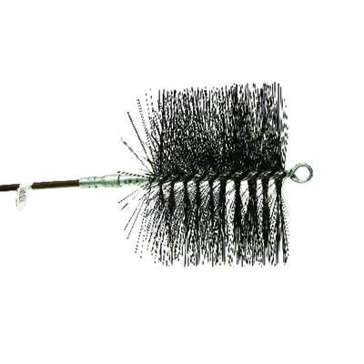Rutland Black Chimney Brush Round 13-11/16 in. L