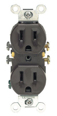 Leviton Electrical Receptacle 15 amps 5-15R 125 volts Brown