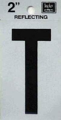 Hy-Ko Self-Adhesive Black Reflective Vinyl Letter T 2 in.