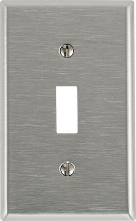 Leviton 1 gang Silver Stainless Steel Toggle Wall Plate 1 pk