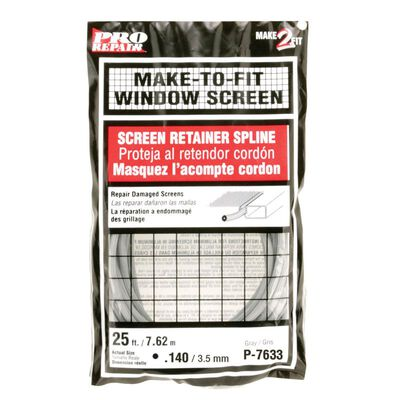 Prime-Line Window and Screen Door Frames Screen Spline 1/8 in. W x 25 in. L Gray Vinyl