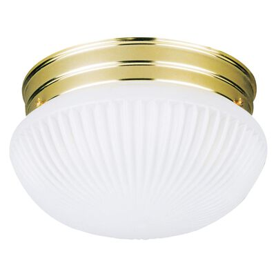 Westinghouse Polished Brass Ceiling Fixture 4-3/4 in. H x 7-1/2 in. W