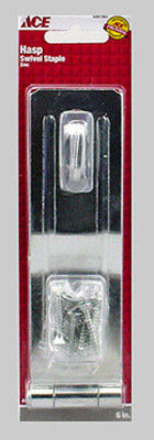 Ace Zinc Swivel Staple Safety Hasp 6 in. L