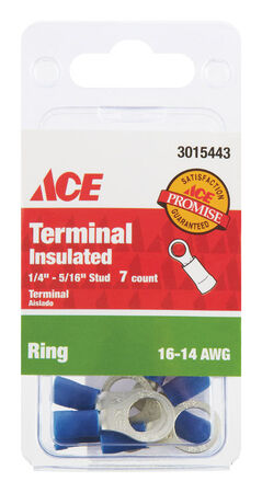 Ace Industrial Ring Terminal 7 Vinyl Blue