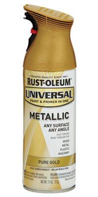 Rust-Oleum Universal Paint & Primer in One Pure Gold Metallic Metallic Spray 11 oz.