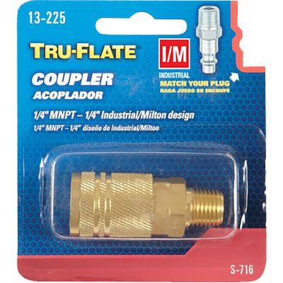 Tru-Flate Brass Quick Change Coupler 1/4 in. MNPT Male I/M