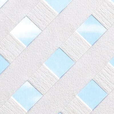 Master Mark Privacy Lattice Panels 4 ft. x 8 ft. Plastic White