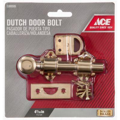 Ace 4.4 in. L Brass Dutch Door Bolt