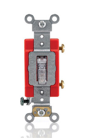 Leviton Industrial 20 amps Toggle Switch Single Pole