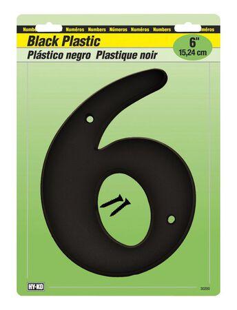 Hy-Ko Mounting Screws Black 6 in. Plastic Number 6