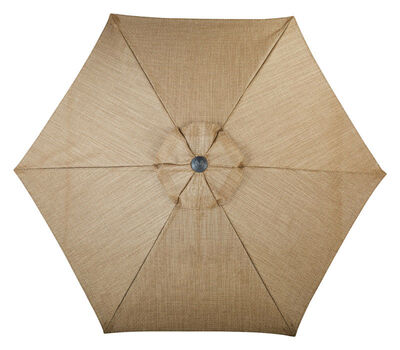 Living Accents Palermo 9 ft. Dia. Tiltable Patio Umbrella Brown