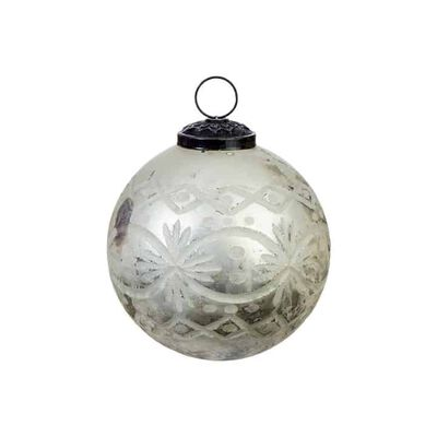 """4"""" Etched Mercury Ball Ornament"""