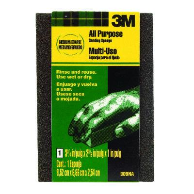 3M Sanding Sponge 2-5/8 in. W x 3-3/4 in. L Medium Coarse