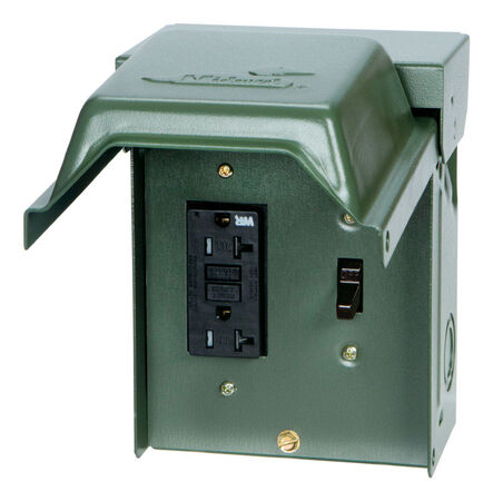 GE Midwest 20 amps 120 volts Surface Power Outlet Box
