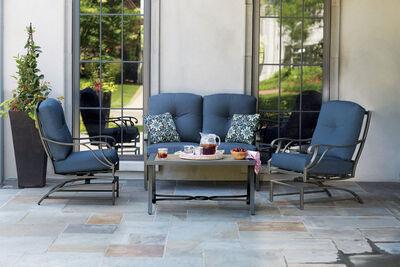 Living Accents Somerset Indigo Deep Seating Set Indigo Blue