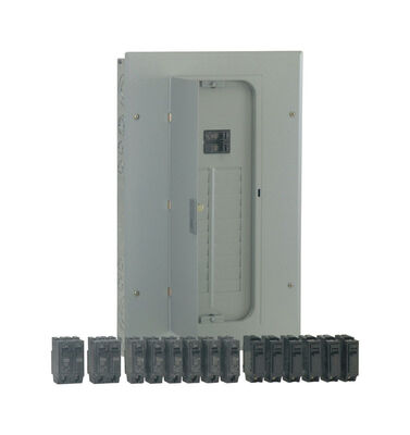 GE PowerMark Gold 100 amps 20 space 20 circuits 240 volts Plug-In Double Pole Main Breaker Load