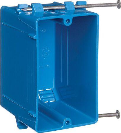Carlon 4-3/16 in. H Rectangle 1 Gang Outlet Box Blue PVC