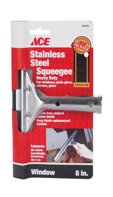 Ace 8 in. W Window Squeegee Stainless Steel