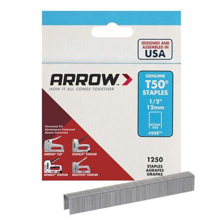 Arrow T50 Wide Heavy Duty Staples Gray 1/2 in. L