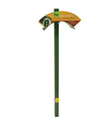 Yard Butler Post Mount Hose Hanger 100 ft. Green