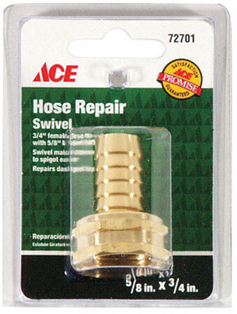 Ace 5/8 in. Hose Barb x 3/4 in. FHT Brass Hose Repair Female Threaded