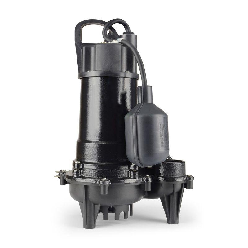 Ecoflo 1/3 hp 3300 gph Cast Iron Submersible Sump Pump ...