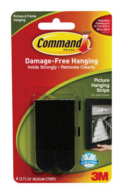 3M Command Medium Picture Hanging Foam 2-3/4 in. L 8 pk 3 lb. per Set Adhesive Strips