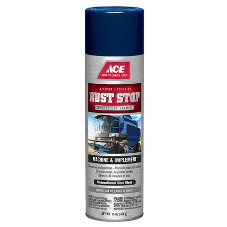 Ace Rust Stop Gloss International Blue Machine And Implement Enamel Spray Paint 15 oz.