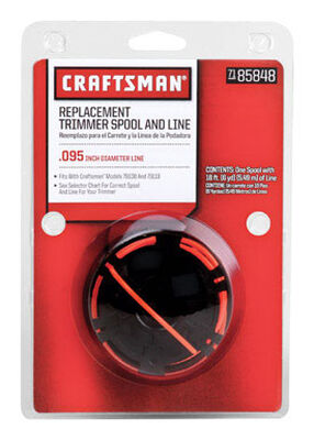 Craftsman Replacement Line Trimmer Spool 0.095 in. Dia. x 18 ft. L