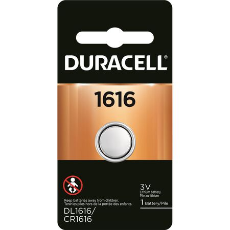 Duracell 1616 Lithium Security Battery 3 volts 1 pk