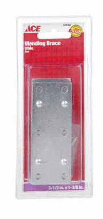 Ace Mending Brace 3-1/2 x 1-3/8 Zinc 4 pk Carded