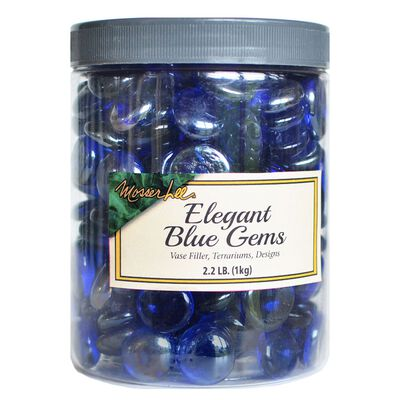 Mosser Lee Elegant Blue Decorative Stone Pan Gem 2.2 lb.