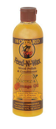 Howard Feed-N-Wax Oil-Based Clear Wood Polish & Conditioner 16 oz.