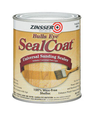 Zinsser Bulls Eye SealCoat Oil-Based Sanding Sealer Clear 1 qt.