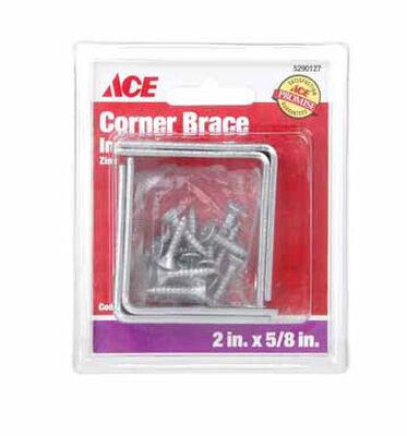 Ace Inside L Corner Brace 2 in. x 5/8 in. Zinc