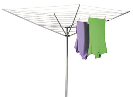 Household Essentials 73 in. L x 72 in. H x 73 in. W Aluminum Umbrella Clothes Dryer