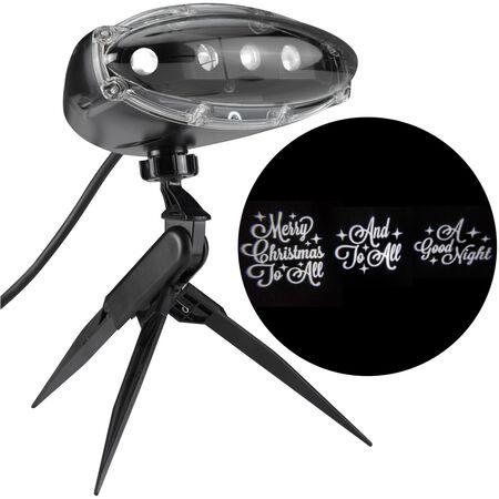 Gemmy Merry Christmas LED Projector Black Plastic 1 pk
