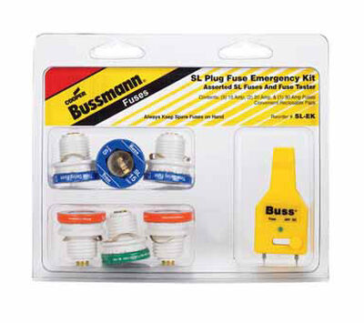 Bussmann Plug Fuse Kit 30 amps 125 volts 1-3/16 in. Dia. x 1-1/4 in. L 7 pk For Small Motor And In